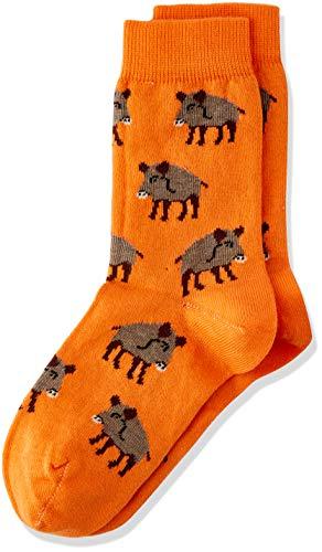 Living Crafts sokken, pak van 2 23/26, pompoen/noot