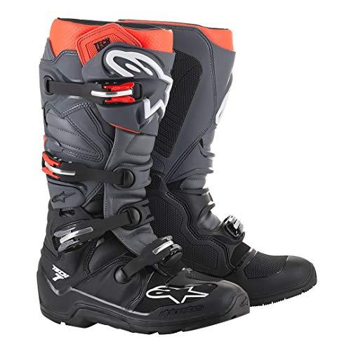 Alpinestars Unisex-Adult Tech 7 Enduro Boots Black/Grey/Red Sz 10 (Multi