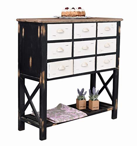 Anrichte im Landhausstil Kommode Schubladenschrank Sideboard Antik Schrank mxa056 Palazzo Exklusiv