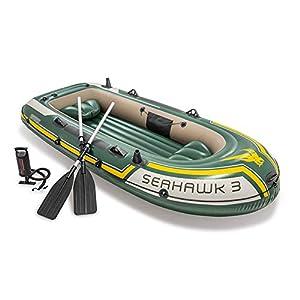 GKJ Kayak Inflable, Kayak Hinchable Canoa.Juego de Kayak Inflable con remos de Aluminio y Bomba de Aire de Alto rendimiento295cm*137cm*43cm