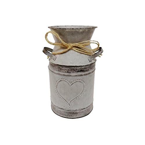 Watering Honey - Cántaro de leche galvanizado de estilo antiguo, de 19,05 cm