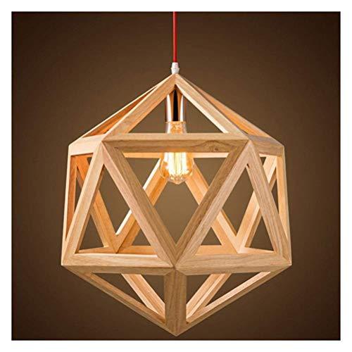 Casa de campo Araña Colgante de madera Iluminación colgante industrial Moderno Industrial Madera forjada Colgante geométrico Araña XYJGWDD
