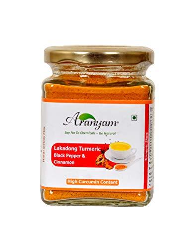 Aranyam Turmeric Latte/Detoax Tea Mix with Black Pepper Cinnamon - Turmeric Latte/Turmeric Detoax Tea 100 Gm