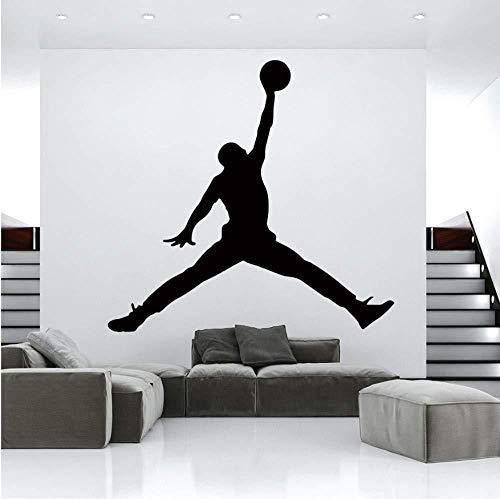 BAOWANG Wandtattoo Jordan basketball vinyl wand wandaufkleber für zimmer d kinderzimmer wand dekor gym raumdekoration zubehör 104 cm x 110 cm
