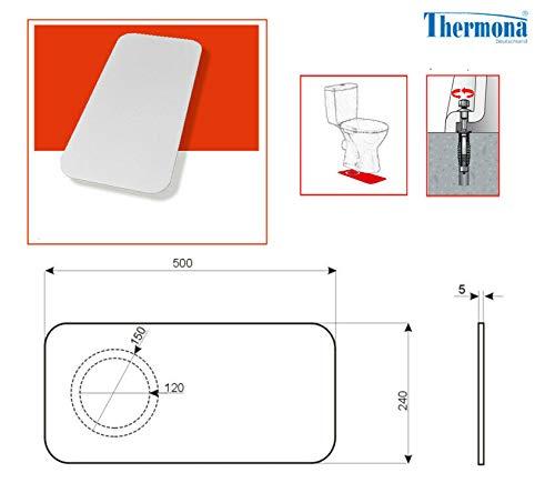 Befestigung für Stand WC und Schallschutz 9 -teilig weiß Schrauben Dübel Kappen