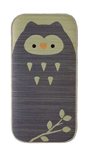 い草マット 子供用サマーマット ごろ寝マット「 ござまる プレイマット 」【IB】約70×140cmふくろう(#7548339) お昼寝 ベビー 赤ちゃん シーツ
