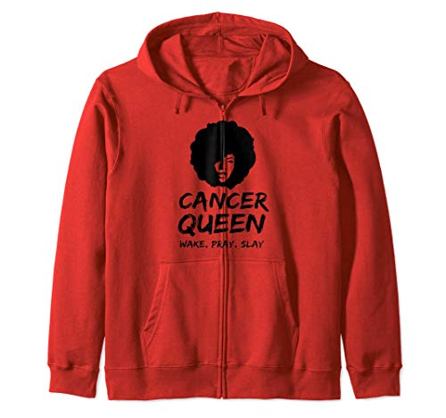 Cancer Queen Wake Pray Slay Regalo del Zodíaco para Mujeres Sudadera con Capucha