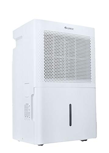 Gree Chalet 30Pint Portable Dehumidifiers for Basements Home up to 1500 Sq.Ft. Dehumidifiers for Basement, Continuous Gravity Drain, Casters and Washable Filter with Wheels, Quiet White