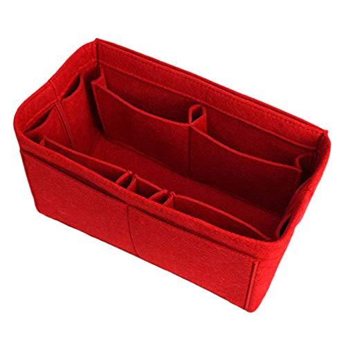Gesh Rote Aufbewahrungstasche für Zuhause, Filz-Einsatz, Innenbeutel, tragbare Kosmetiktasche, Aufbewahrungstasche