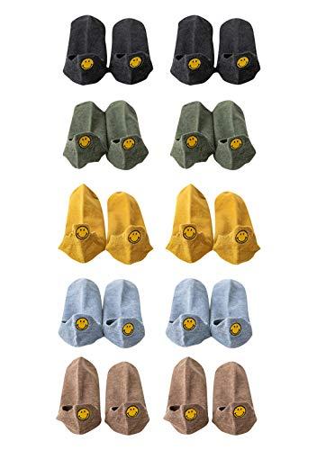 OMZIN 10 Paar Weihnachtssocken Unisex Socken Damen Emojy Socks Lustige Socken Witzig Socken Niedlich Tiere Karikatur Socken Baumwolle Socken Muster Socken
