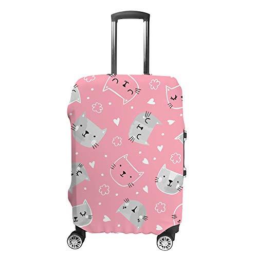 Ruchen - Funda Protectora para Maleta, diseño de Gato, Color Rosa