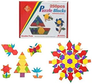 Puzzle Blocks 250 Pcs   Development skills, intelligence and Montessori wooden toys