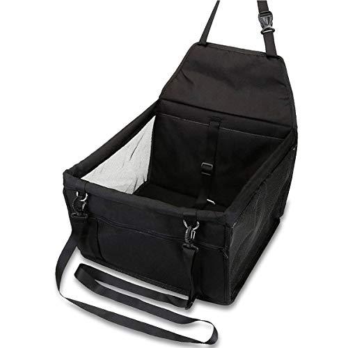 OUTLETISSIMO® Transportbox schwarz für Hunde und Katzen Auto Box und Sitzbezug Haustier Hund Katze 40 x 32 x 24