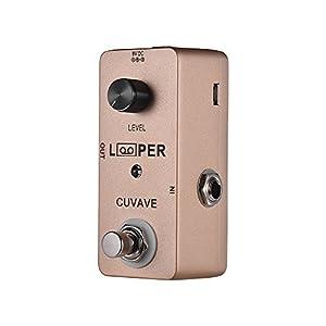 Fesjoy Looper Pedal Mini Gitarren Loop Looper Pedal Max. 5 Minuten Aufnahmezeit Unbegrenzte Overdubs Full Metal Shell