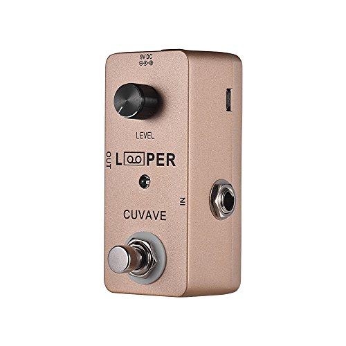 Lepeuxi Mini Gitarren Loop Looper Pedal Max. 5 Minuten Aufnahmezeit Unbegrenzte Overdubs Full Metal Shell