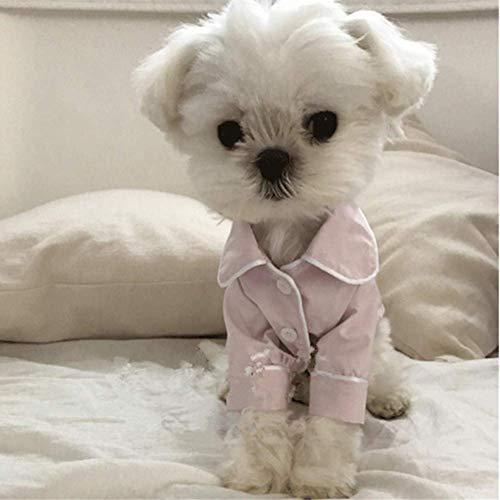 EgBert Pet Pajamas Dog Jumpsuits Clothes for Dog Teddy Bomei Small Dog Clog Clothing Dogs Pajamas Pet T-Shirt - Rosa - S