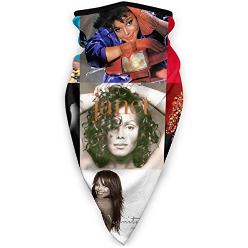 Janet Jackson Face Cover Fashion Windproof Sports Mask Multifunction Bandana Headwear Tube Mask Outdoor Balaclava Black