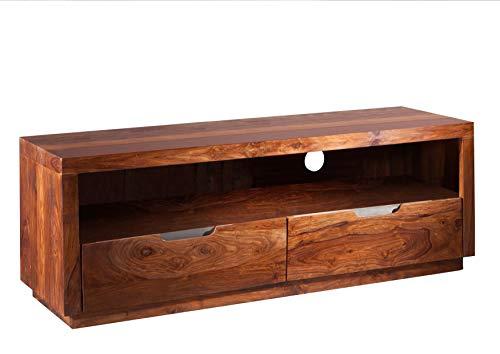 MASSIVMOEBEL24.DE Sheesham massiv Holz Möbel lackiert TV-Board Palisander massiv Möbel Massivholz walnuss Duke #122