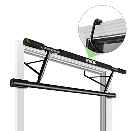 ENKEEO Doorway Pull-Up Bar Fitness Chin-Up Frame for Home Gym Exercise, no Installation needed (Load up to 440 lbs / 200kg) (Black)