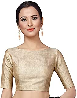 EVERWILLOW Women's Golden Stitched Saree Blouse