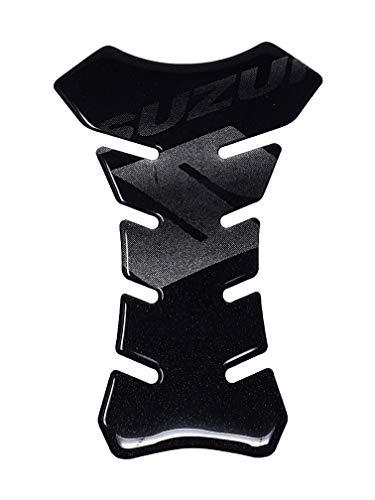 4R Quattroerre.it 18083 Pegatina 3D para el Depósito de la Moto Suzuki, Negro, 190 x 130 mm