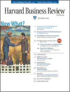 Harvard Business Review, November 2004 audiobook cover art