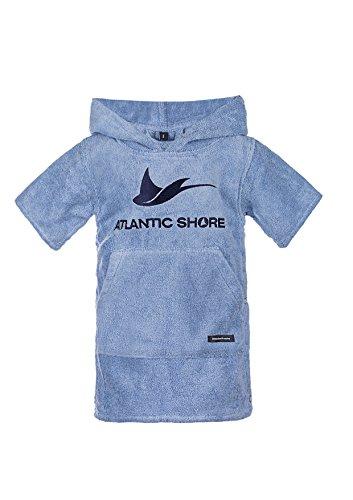 Atlantic Shore | Surf Poncho ➤ Bademantel/Umziehhilfe aus hochwertiger Baumwolle ➤ für Kids/Kinder ➤ Light Blue - Short
