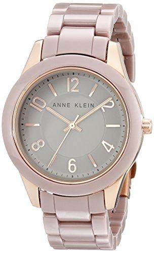Anne Klein para mujer AK/1962rgtp Rose Gold-tone reloj con cerámica enlace