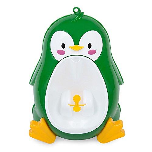 Junge Urinal Töpfchen stehendes Pipi Toiletten Training mit Töpfchen Trainings Spiel, nette Pinguin Form (grün)