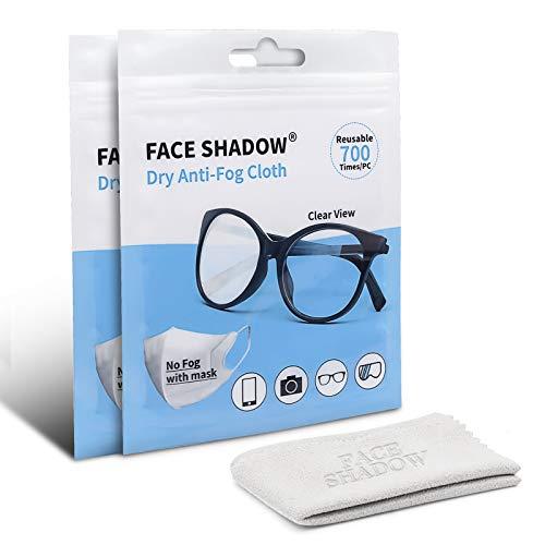 Face Shadow Paño de Limpieza Alcantara para Lentes Los Anteojos Pantallas de Electrónica Tabletas Gafas Paño para Gafas para Todos Los Lentes de Gafas y Cámaras con Revestimiento Múltiple(4 Paquetes)