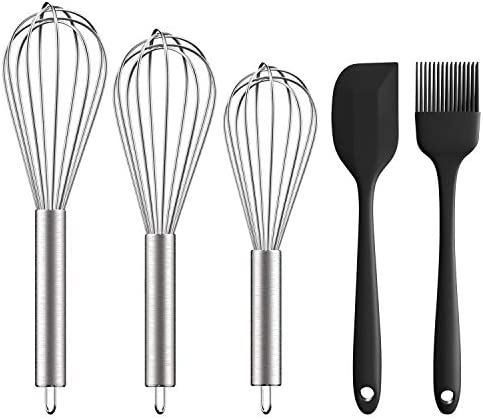 Stainless Steel Whisk 8 10 12 Ouddy 3 Pack Wire Whisk Set Wisk Kitchen Tool for Cooking Blending product image