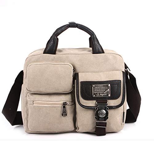 Cvxgdsfg Trendy Wilde Herrentasche Dicke Abriebfeste grüne Canvas-Tasche eleganter Charme Umhängetasche urbanen Stil Umhängetasche (Color : 3)