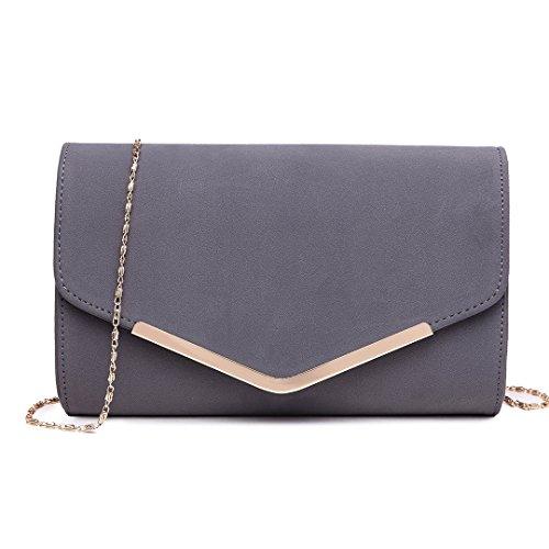 Miss Lulu Elegante Kettentasche Damen Tasche Clutch Bag Handtasche Hochzeit Abendtasche...
