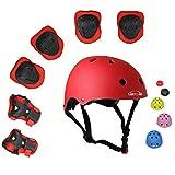 Lucky-M Kinder 7 Stücke Outdoor Sports Schutzausrüstung Set Jungen Mädchen