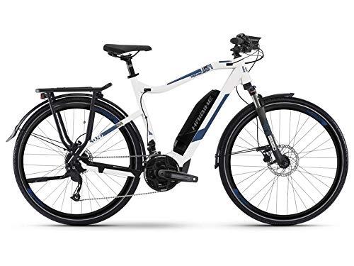 HAIBIKE Sduro Trekking 4.0 Pedelec E-Bike Fahrrad weiß/blau 2019: Größe: S