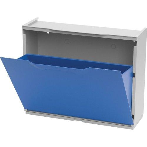 Zapatero de plástico azul