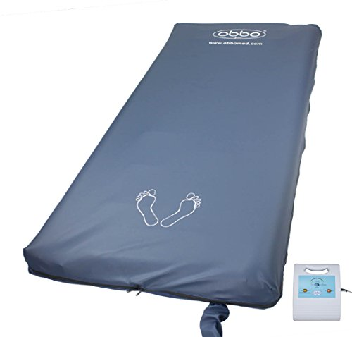 Obbomed MA-6500 2-in-1 Self-Lateral Rotation Medical Low Air Loss Alternating Mattress Replacement System, Alarm, Pump System, to Prevent Bed Sores, Pressure Ulcers