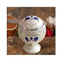 たばこ灰皿灰皿 屋外の屋外屋外のための干し草の干し灰皿のためのヴィンテージ灰皿室内の女性のための防風灰皿の上品な贈り物 タバコ用灰皿 (Color : BX1)