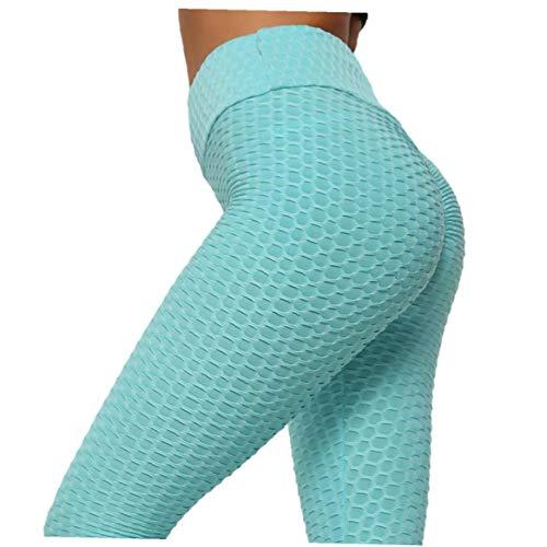 Vrouwen Yoga Pants Tight High elastiek in de taille Sport Fitness Leggings Broeken voor Gym Workouts Running Blue M