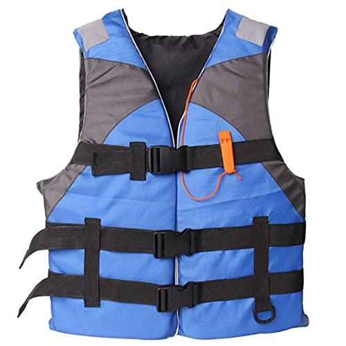 CUCUHAM Life Jackets Water Sport Boating Jacket for Adults Outdoor Sports Vest Adults Jacket Water Sport Buoyancy Waistcoat Blue