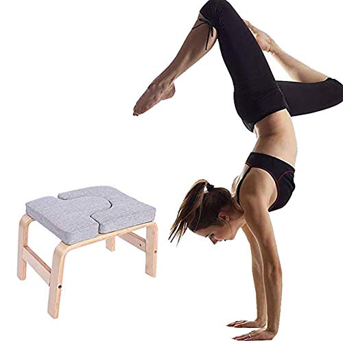 Amazing Deal LISI Yoga Headstand Bench, Yoga Headstand Chair Yoga Inversion Chair Stool Multifunctio...