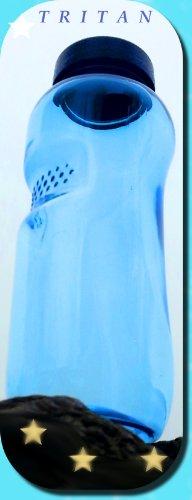 """3 X 0,5 Liter Trinkwasserflasche aus Tritan,mit """"Blüte des Lebens"""" - Symbol Aufdruck auf dem Trinkdeckel, 18 x 6 cm, Flasche gibt keine Schadstoffe ab (FDA Zulassung), und ist hervorragend geeignet um gefiltertes Wasser aufzubewahren; große Öffnung ("""