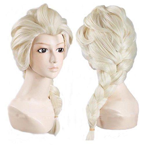 Disney Movies Princess Frozen Snow Queen Elsa Cosplay Wig Elsa Wig w/ a Free Cap by Generic