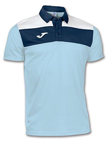 Joma Polo Crew Bleu Ciel M/C pour Homme, 100246.350.7XS, Bleu Ciel - 350, 6XS