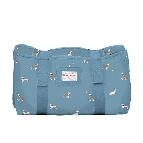 Brakeburn Picknickdecke für Hunde, Wurst, Blau
