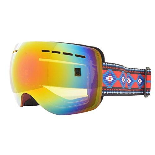 REVERSE EDGE(リバースエッジ) スノーボード ゴーグル ケース付き メンズ レディース a-goggle-ESG1752-BU-NA