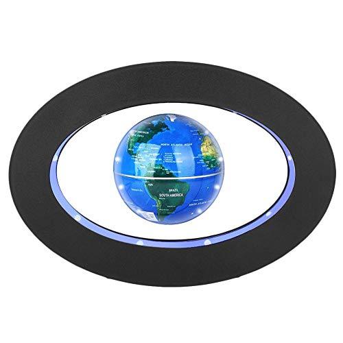 Globo Flotante de levitación magnética gira del mapa del mundo utilizar como decoración del escritorio del hogar o de oficina, un gran regalo que sorprenderá a su familias y amigos (Óvalo azul)