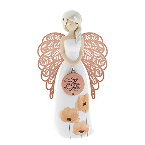 """You Are An Angel """"The Love Between Mother And Daughter Is Forever"""" Floral Angel Figure With Embellishments"""