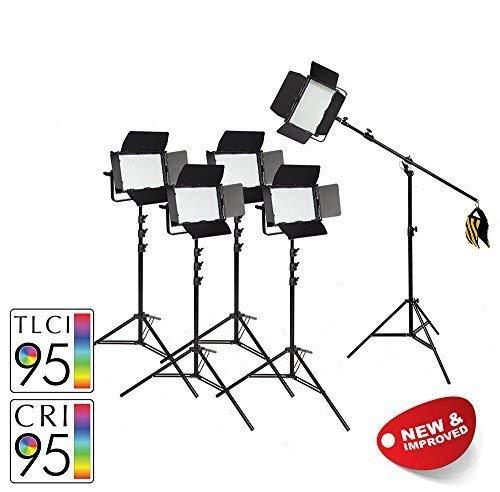 Pixapro VNIX1000S / VNIX1000B verlichtingsset opties verlichten licht licht studio fotografie * 2 jaar Britse garantie snelle levering *UK-voorraad* BTW geregistreerd (vijf boom kit met batterijen, 1000 S)