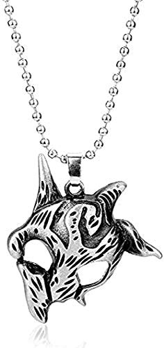 ZHIFUBA Co.,Ltd Collar Hombre Collar Juego League Legends LOL Hero Eternal Hunter Kindred Colgante Collar de Metal Cadena de aleación Colgante Colgante para Hombres Mujeres Collar Colgante